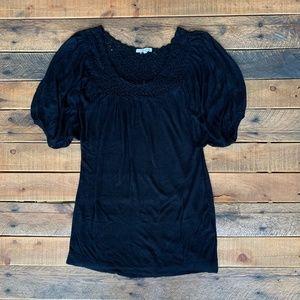 Kenzie black oversized tunic sweater small